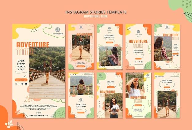 Modèle D'histoires Instagram De Temps D'aventure Psd gratuit