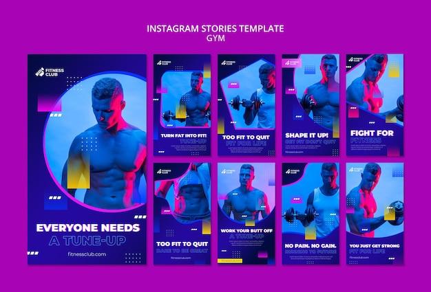 Modèle D'histoires De Médias Sociaux D'entraînement Avec Photo Psd gratuit