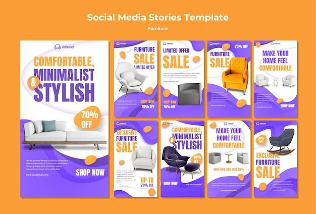 Modèle D'histoires De Médias Sociaux De Meubles PSD Premium
