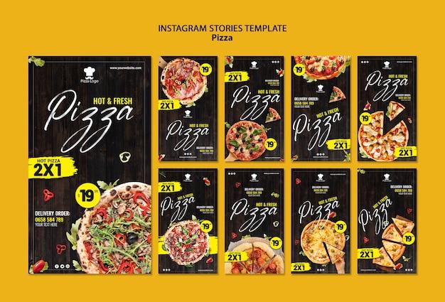 Modèle D'histoires De Médias Sociaux De Restaurant De Pizza Psd gratuit