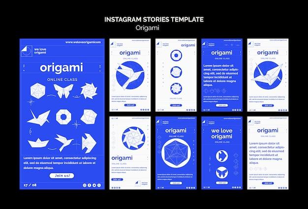 Modèle D'histoires D'origami Instagram Psd gratuit
