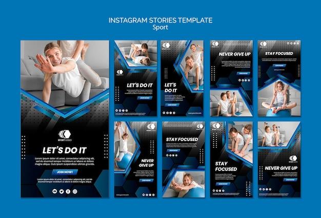 Modèle D'histoires Sportives Instagram Psd gratuit