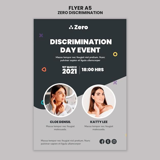 Modèle D'impression De Jour Zéro Discrimination Psd gratuit