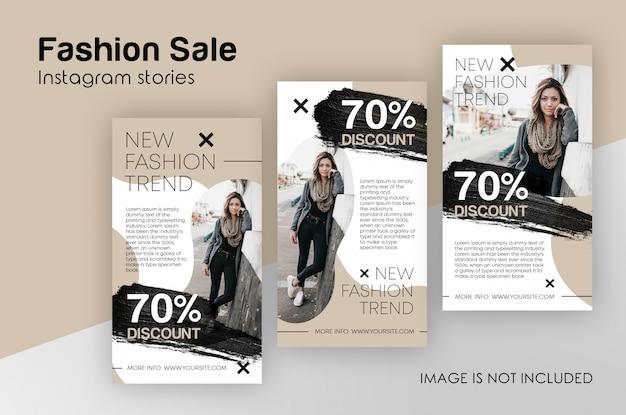 Modèle instagram histoires de vente de mode PSD Premium