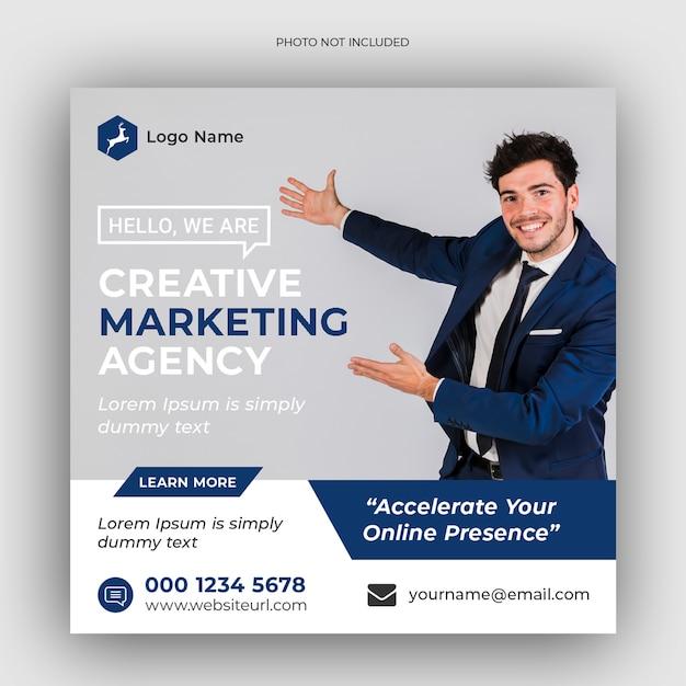 Modèle Instagram De Promotion Du Marketing D'entreprise Et Numérique PSD Premium