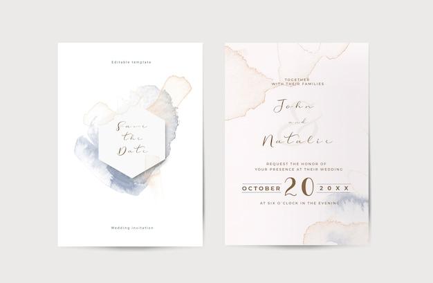 Modèle D'invitation De Mariage De Fiançailles élégant Psd gratuit