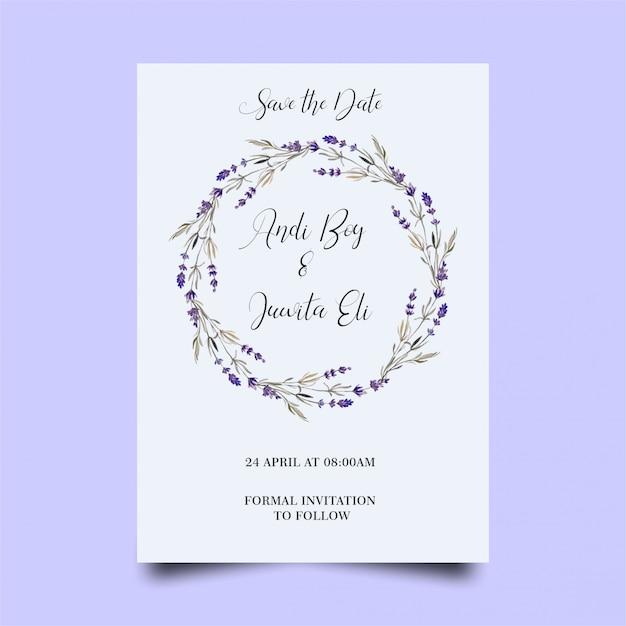Modèle d'invitation de mariage moderne PSD Premium