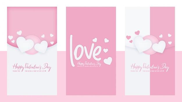 Modèle De Jeu D'histoires De Saint Valentin Instagram PSD Premium