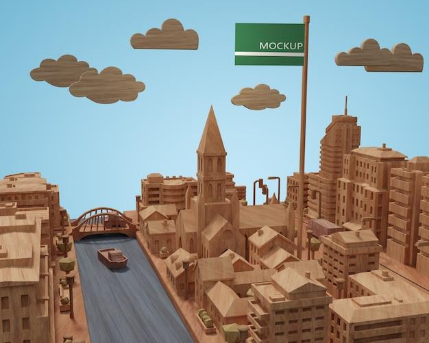 Modèle De Journée Mondiale Des Villes Avec Maquette Psd gratuit