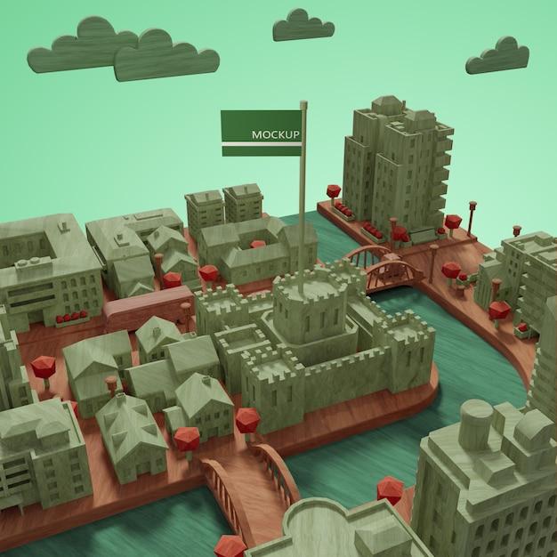 Modèle De La Journée Mondiale Des Villes Maquettes Psd gratuit