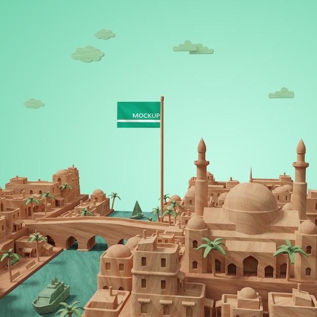 Modèle De La Journée Mondiale Des Villes Psd gratuit