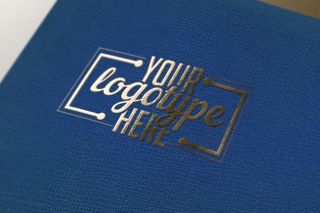 Modele De Logo Sur Le Livre Bleu Telecharger Psd Premium