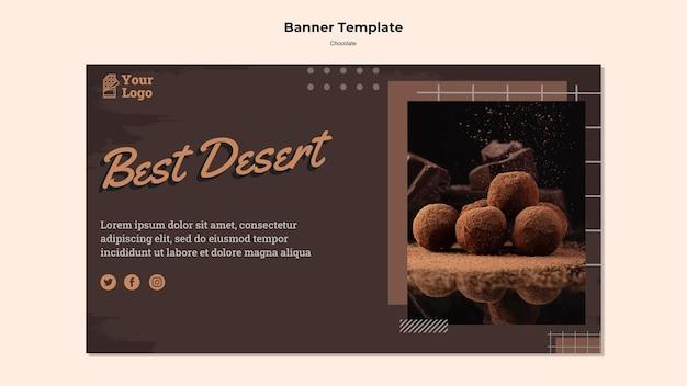 Modèle De Magasin De Chocolat Bannière Psd gratuit