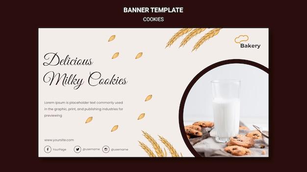 Modèle De Magasin De Cookies De Bannière Psd gratuit