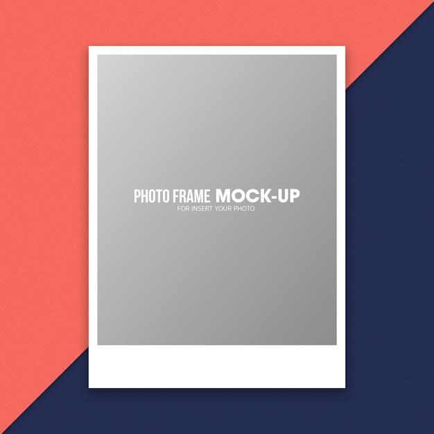 Modèle de maquette de cadre photo polaroid PSD Premium