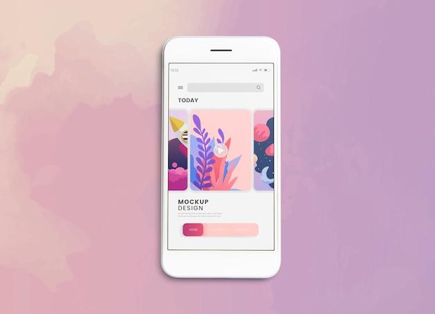 Modèle de maquette d'écran pour téléphone mobile premium Psd gratuit