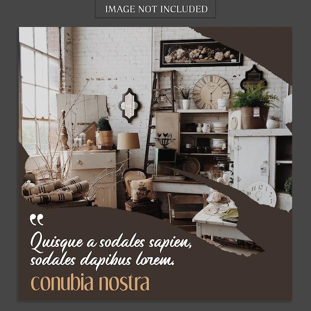 Modèle De Maquette De Photo Moderne Et De Récit Instagram Pour Profil De Média Social PSD Premium