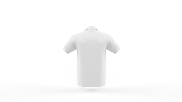 Modèle De Maquette De Polo Blanc Isolé, Vue Arrière Psd gratuit