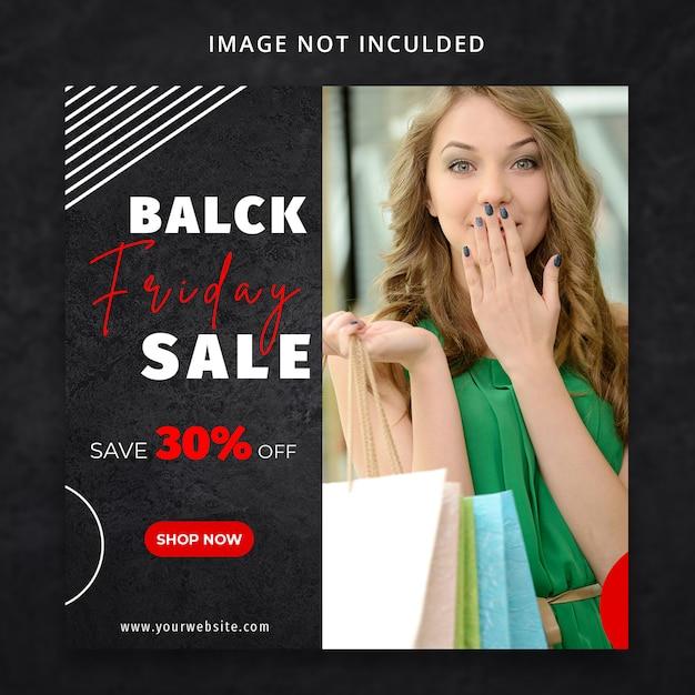 Modèle de médias sociaux black friday fashion sale sale PSD Premium