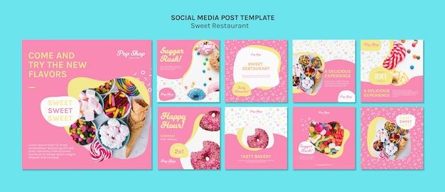 Modèle De Médias Sociaux De Sugar Rush Candy Store Psd gratuit