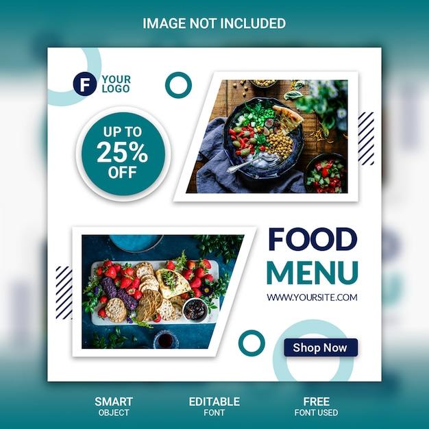 Modèle De Menu Instagram Post Food PSD Premium