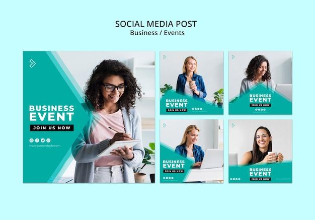 Modèle de message d'entreprise sur les médias sociaux Psd gratuit