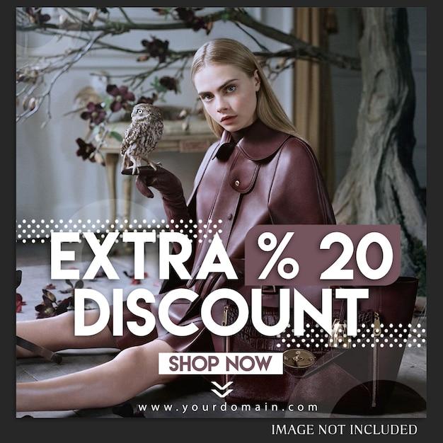 Modèle de message de mode de vente instagram PSD Premium