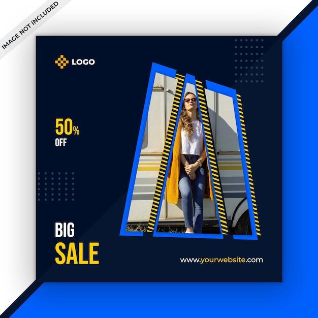 Modèle de message de vente sur les médias sociaux PSD Premium