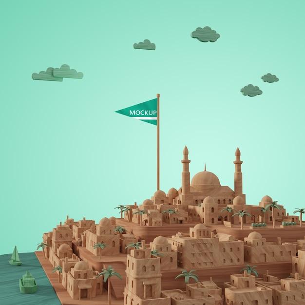 Modèle Miniature De Villes 3d Psd gratuit