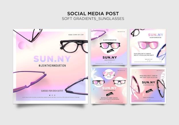 Modèle De Modèle De Publication De Médias Sociaux Pour Magasin De Lunettes De Soleil PSD Premium