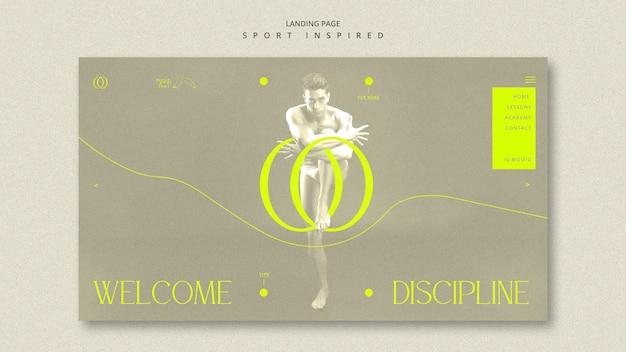Modèle De Page De Destination De L'académie De Danse PSD Premium
