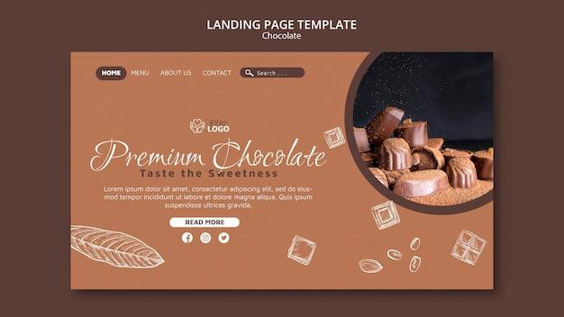 Modèle De Page De Destination Au Chocolat Premium Psd gratuit