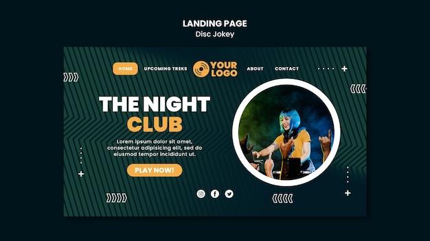 Le Modèle De Page De Destination De La Boîte De Nuit Psd gratuit