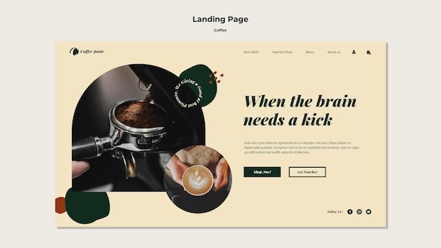 Modèle De Page De Destination De Café PSD Premium