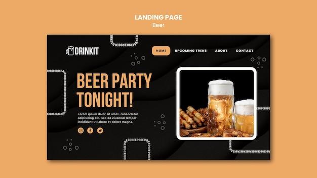 Modèle De Page De Destination De Concept De Bière PSD Premium