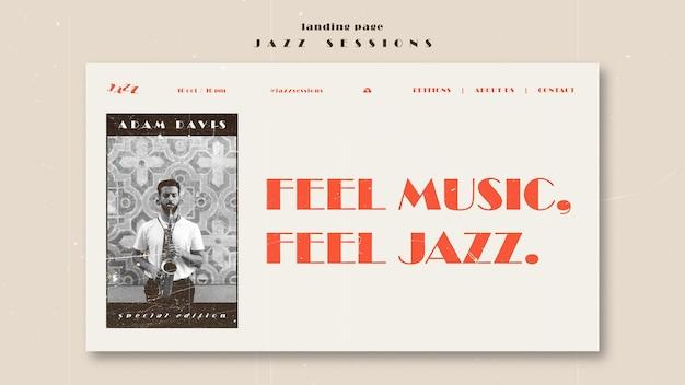 Modèle De Page De Destination De Concept De Jazz Psd gratuit