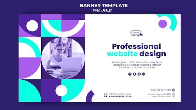 Modèle De Page De Destination De Conception De Site Web Professionnel Psd gratuit