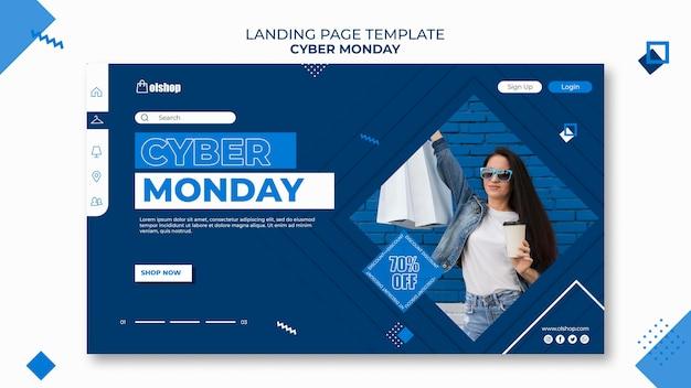 Modèle De Page De Destination Cyber Monday PSD Premium