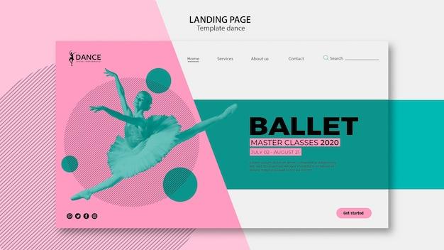Modèle De Page De Destination De Danse Avec Ballerine PSD Premium