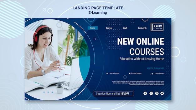 Modèle De Page De Destination Du Concept E-learning Psd gratuit