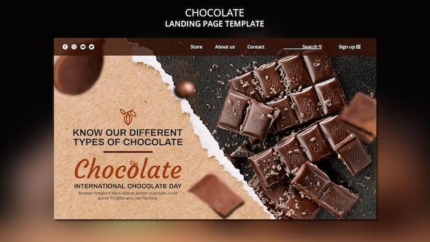 Modèle De Page De Destination De Magasin De Chocolat Psd gratuit