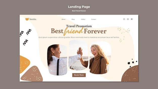 Modèle De Page De Destination Meilleurs Amis Pour Toujours Psd gratuit
