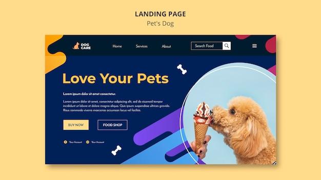 Modèle De Page De Destination Pour Les Animaleries Psd gratuit