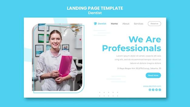 Modèle De Page De Destination Pour Une Annonce De Dentiste PSD Premium