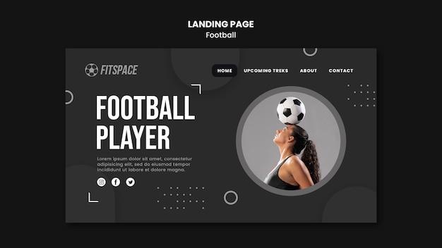 Modèle De Page De Destination Pour Une Annonce De Football Psd gratuit
