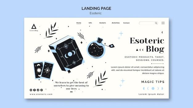 Modèle De Page De Destination Pour Blog ésotérique Psd gratuit