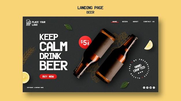 Modèle De Page De Destination Pour Boire De La Bière Psd gratuit