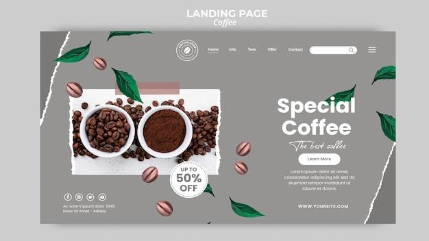 Modèle De Page De Destination Pour Le Café Psd gratuit