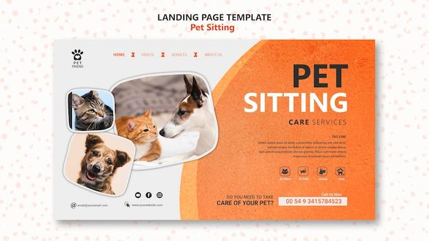 Modèle De Page De Destination Pour Le Concept De Garde D'animaux Psd gratuit