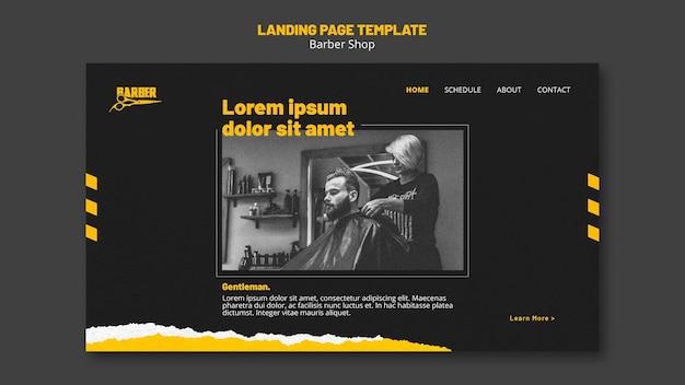 Modèle De Page De Destination Pour Les Entreprises De Salon De Coiffure PSD Premium